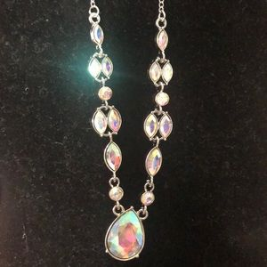 Beautiful rainbow 🌈 necklace silver chain